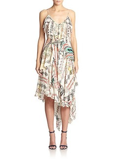 Etro Dream Weaver Silk Ruffle Dress