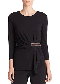 Etro Embellished Crossover Top