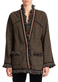 Etro Embellished Herringbone Coat
