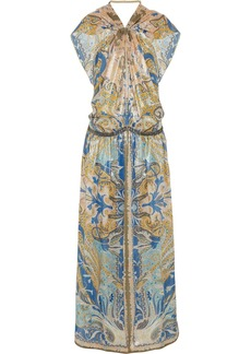 Etro Embellished paisley-print cashmere and silk-blend gown