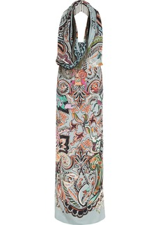 Etro Embellished printed silk gown