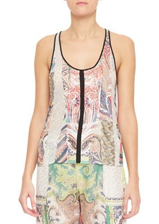 Etro Fern Paisley Patchwork Tank Top