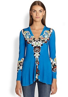 Etro Fit-&-Flare Printed Top