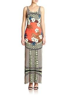 Etro Floral Jersey Maxi Dress