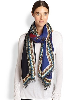 Etro Floral Modal & Cashmere Scarf