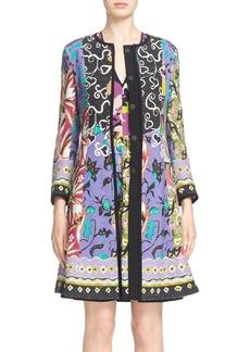 Etro 'Floral Patchwork' Textured Coat