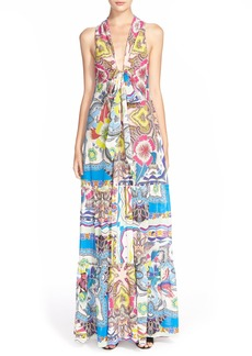 Etro Floral Print Tiered Cotton & Silk Sundress