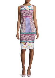 Etro Floral Sleeveless Sheath Dress  Floral Sleeveless Sheath Dress
