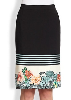 Etro Floral Stripe Skirt
