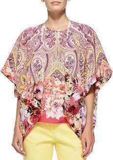 Etro Flutter-Sleeve Paisley & Floral Jacket