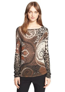 Etro Gauzy Leopard Print Sweater