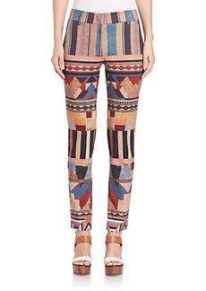 Etro Geo Stripe Ponte Pants