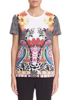 Etro Geometric & Floral Print Cotton Tee