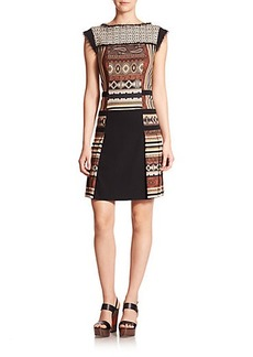 Etro Geometric Print Wool Dress