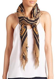 Etro Geometric Wool & Silk Scarf