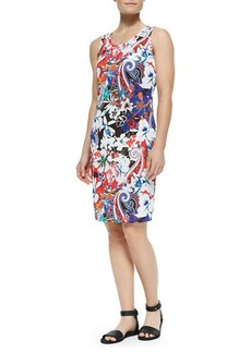 Etro Hawaiian & Paisley-Print Tank Dress  Hawaiian & Paisley-Print Tank Dress