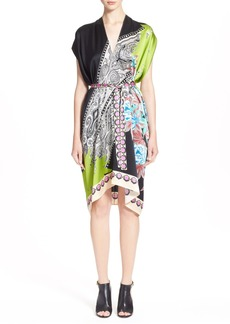 Etro 'Hawaiian Floral' Print Silk Tunic Dress