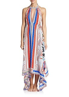 Etro Hawaiian Floral Silk Dress