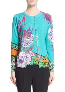 Etro 'Hawaiian Floral' Stretch Silk Knit Cardigan