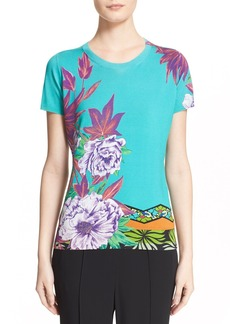 Etro 'Hawaiian Floral' Stretch Silk Knit Top