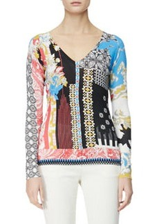 Etro Hawaiian Paisley Stamp-Print Top