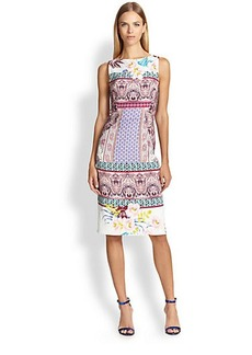 Etro Hawaiian-Print Cady Sheath