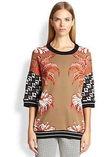 Etro Intarsia Crane Sweater