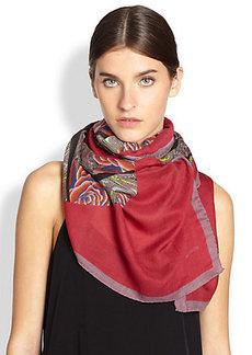 Etro Kaleidoscope Wool & Silk Scarf