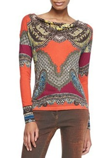 Etro Long-Sleeve Stamp Print Shirt