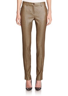Etro Metallic Herringbone Pants