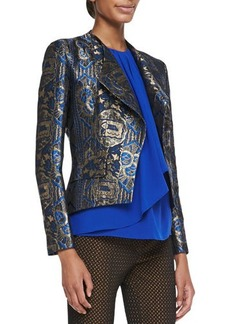 Etro Metallic Jacquard Crop Jacket