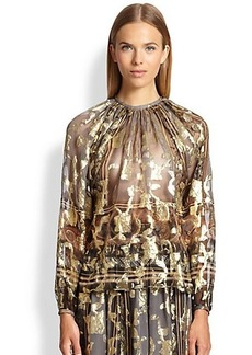 Etro Metallic Silk Blouse