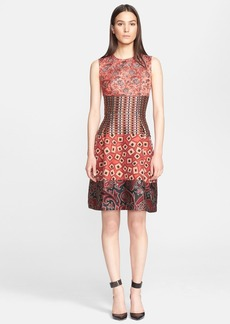 Etro Mix Jacquard Fit & Flare Dress