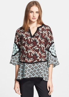 Etro Mix Print Silk Tunic Top