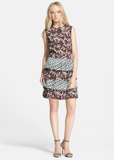 Etro Mix Print Tiered Silk Blouson Dress