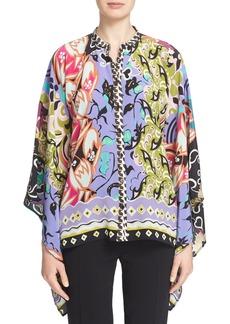 Etro Mixed Floral Print Silk Top