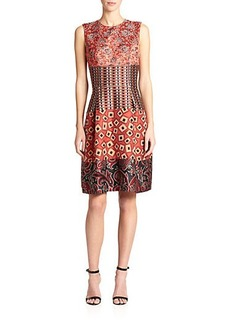 Etro Mixed-Jacquard Dress