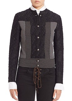 Etro Mixed-Media Cropped Jacket