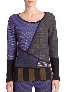 Etro Mixed-Media Patchwork Sweater