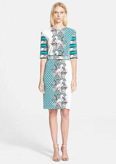 Etro Mixed Print Jersey Sheath Dress