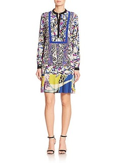 Etro Mixed-Print Shirtdress