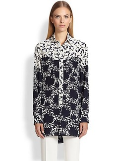 Etro Mixed-Print Silk Tunic