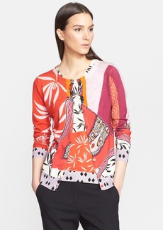 Etro Orchid Print Silk & Cashmere Cardigan