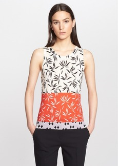 Etro Orchid Print Silk & Cashmere Shell