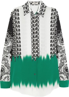 Etro Oversized printed silk shirt