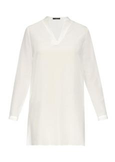 Etro Oversized silk-chiffon blouse