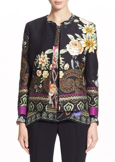 Etro Paisley & Floral Print Cotton Blend Jacket