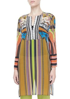 Etro Paisley & Striped Caftan