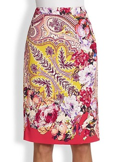 Etro Paisley Floral Skirt
