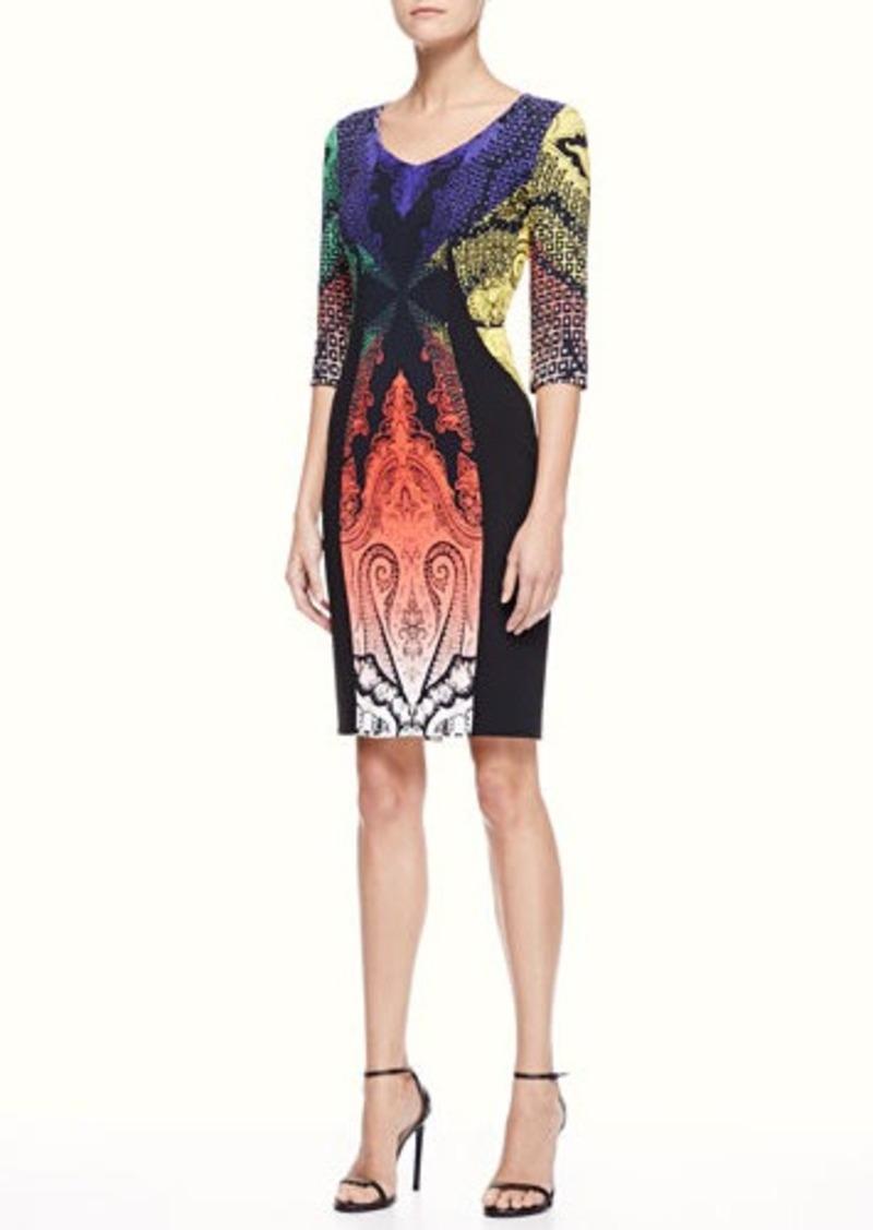 Etro Paisley Panel Dress, Multi/Black